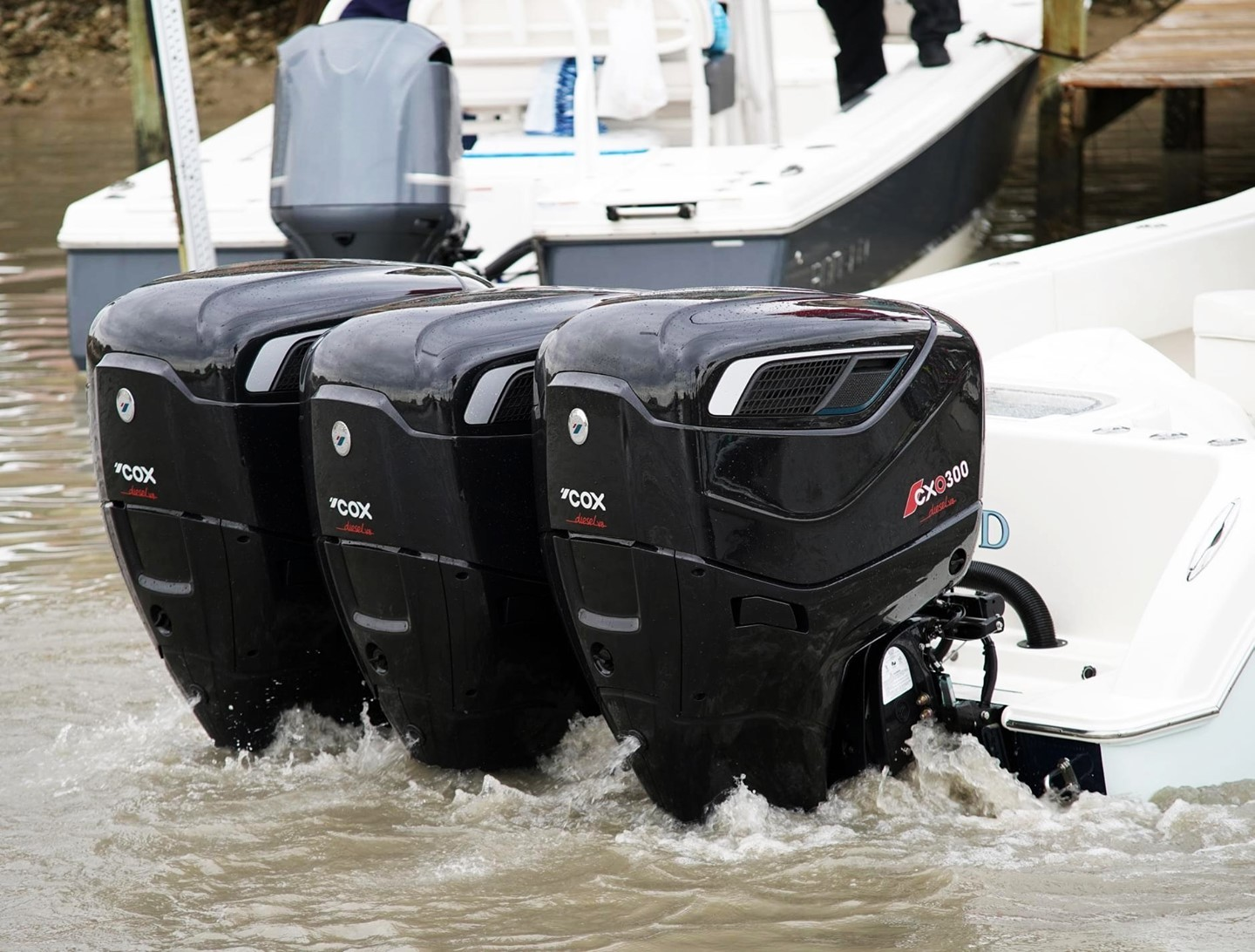 For when two just isn't enough! Just one CXO300 engine can generate 480 ft.lb torque, while using 25% less fuel than a gasoline equivalent!  For full engine specification visit the link in our bio!  #CXO300 #CoxPowertrain #Cox #Engine #Outboards #OutboardCost #DieselOutboard