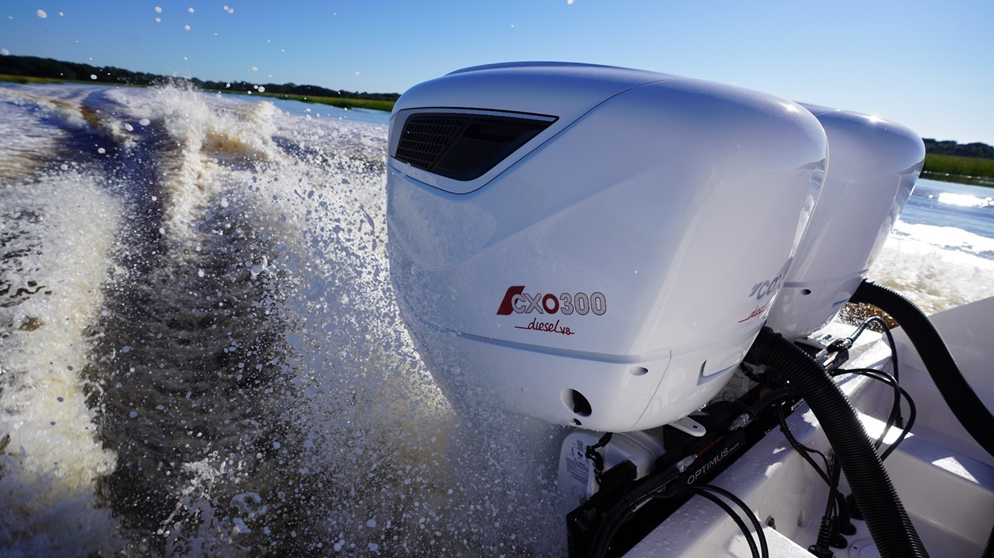 How does the CXO300 compared to a gasoline equivalent? Find out how the Cox 300hp diesel outboard compares to other propulsions systems on the market in fuel consumption and CO2 emissions. Click the link in our bio to find out  #CXO300 #CoxPowertrain #DieselPower #Emissions